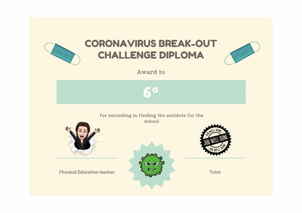Diploma Break Out Actividad Física_Fundación Colegio Bérriz