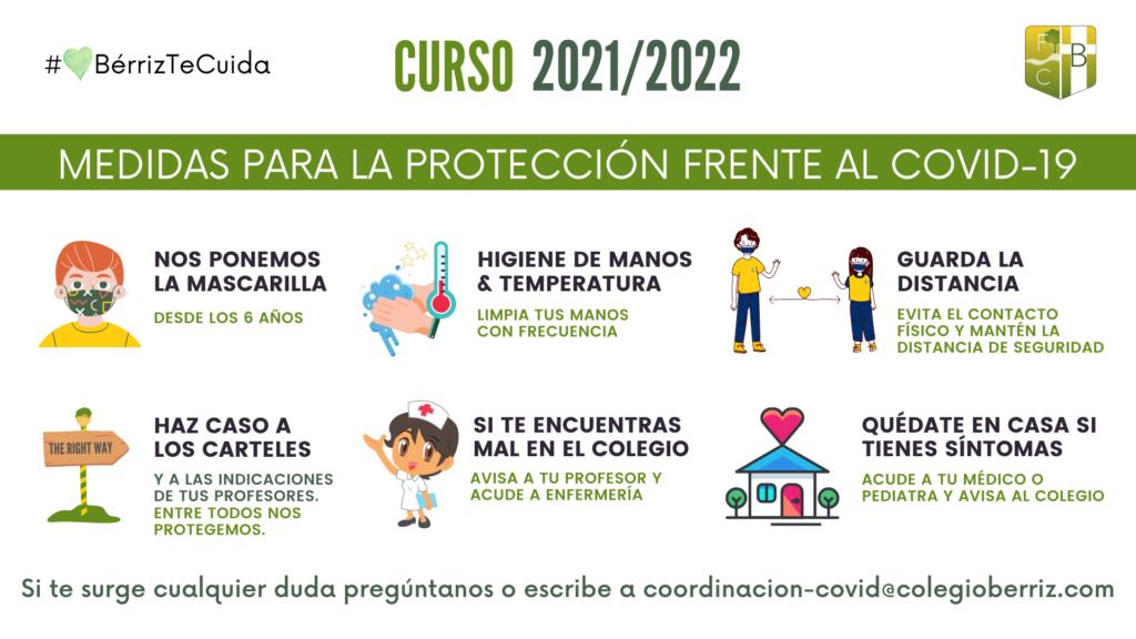 MEDIDAS COVID CURSO 2021 - 2022